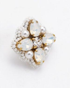 auskarai su swarovski kristalais ir perlais